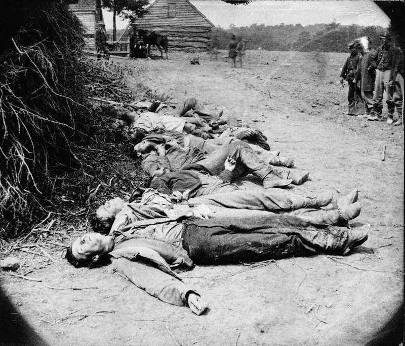 scene-of-ewells-attack,-may-19,-1864,-near-spottsylvania-ie-spotsylvania-court-house-dead-confederate-soldiers-collected-for-burial_d995480a5c